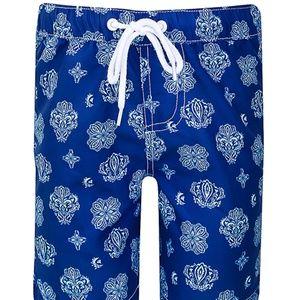 NWT Sun Emporium Bandanna Print Swim Board Shorts